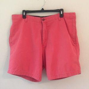 Saddlebred Coral Flat Front Shorts